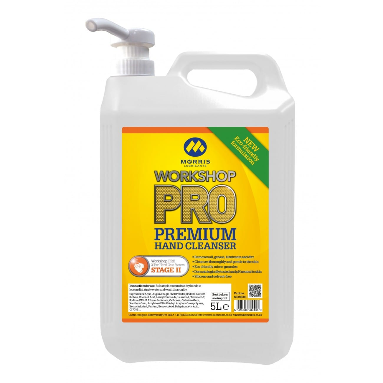 Workshop PRO Premium Hand Cleanser inc Pump (Previously Momento)