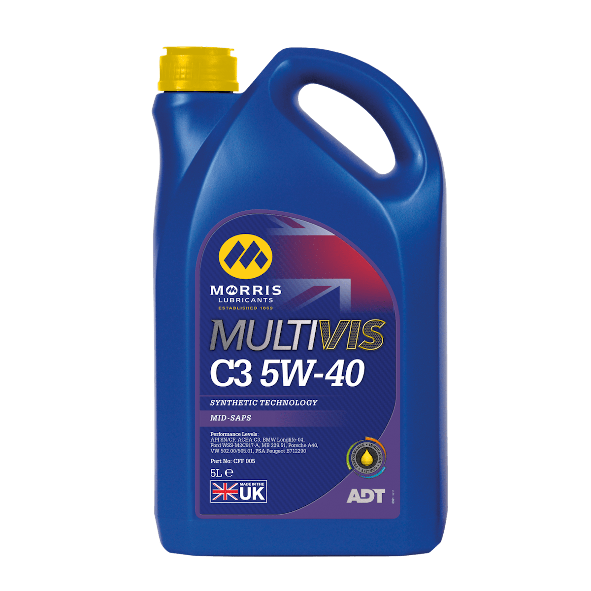 Multivis ADT C3 5W-40 (Previously Multilife C-THREE 5W-40)