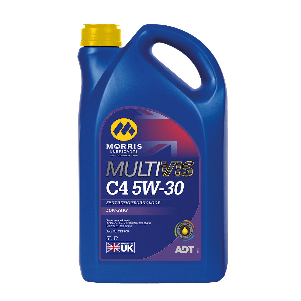 Multivis ADT C4 5W-30 (Previously Multilife C-FOUR 5W-30)